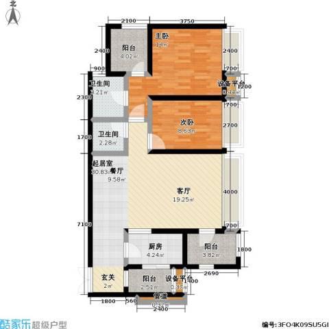 龙湖 悠山香庭 龙湖・悠山时光 悠山时光2室0厅2卫1厨112.00㎡户型图