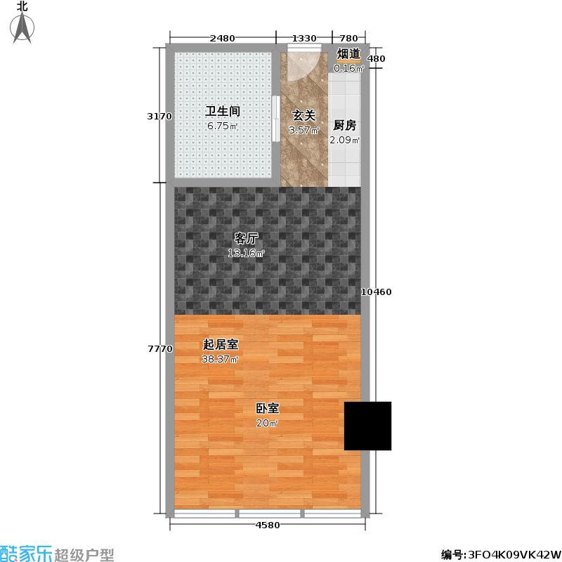 红豆国际广场60.90㎡E户型