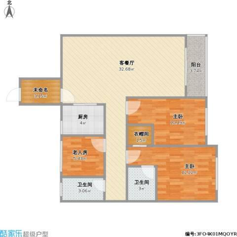 花样年江山3室1厅2卫1厨108.00㎡户型图