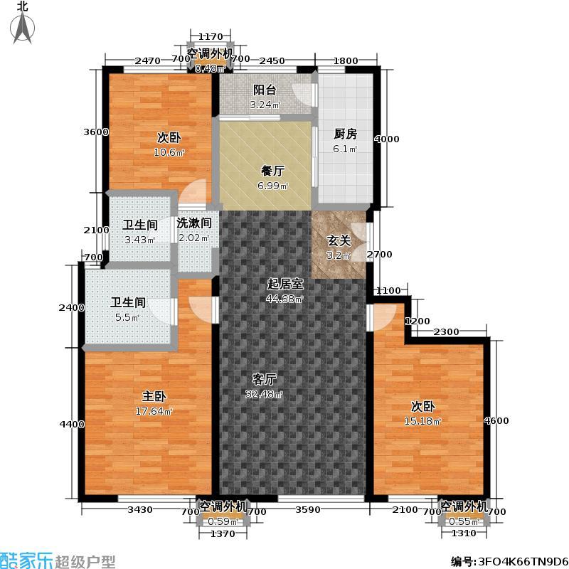 玺萌公馆137.02㎡玺萌公馆户型图A02三室二厅二卫(8/32张)户型10室