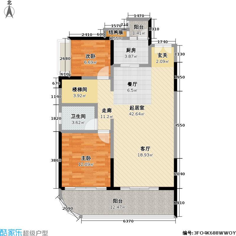 熙龙湾二期熙龙湾二期户型图复式下层两房两厅一卫(5/6张)户型10室