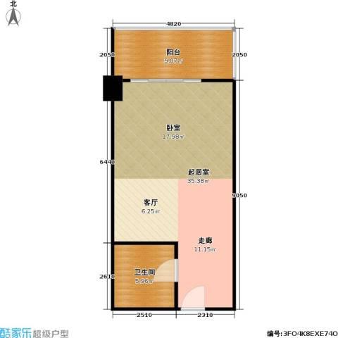 逸品尚枫公寓1卫0厨53.00㎡户型图