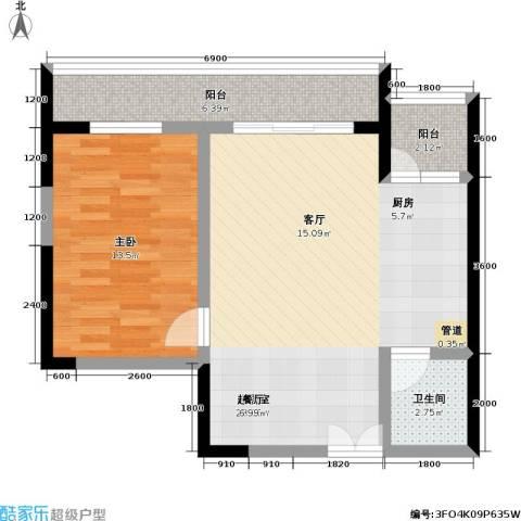 宗申・动力城 动力城1室0厅1卫0厨55.00㎡户型图