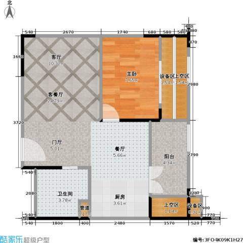 海语江山 海尔・海语江山1室1厅1卫0厨62.00㎡户型图