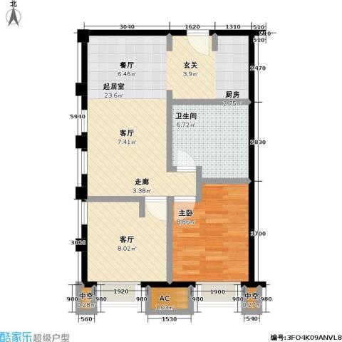 协信 中心1室1厅1卫0厨70.00㎡户型图
