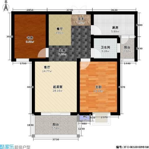 东方明珠花园2室0厅1卫1厨99.00㎡户型图