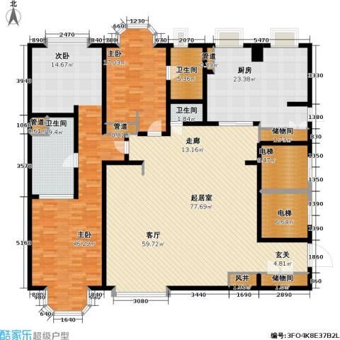 贡院六号2室0厅3卫1厨220.00㎡户型图