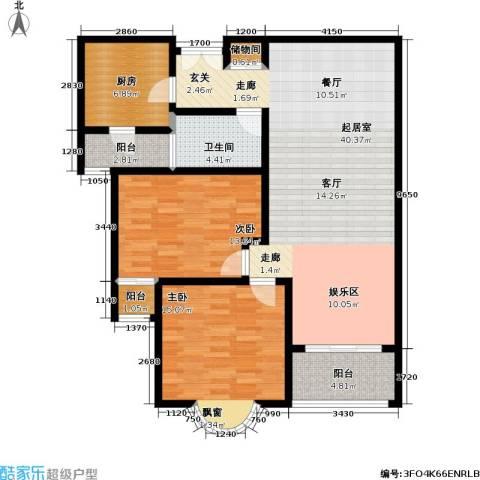 静安桂花园2室0厅1卫1厨105.00㎡户型图