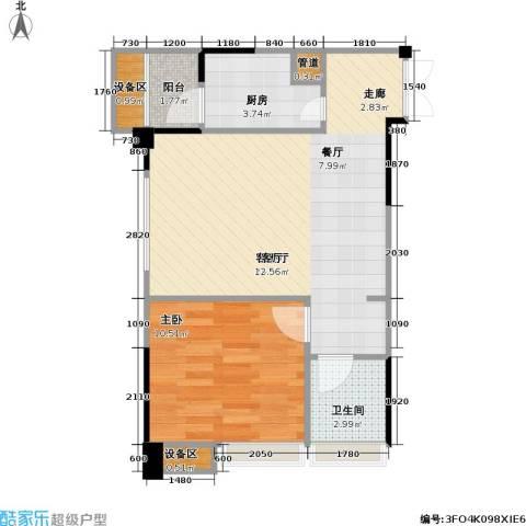 海语江山 海尔・海语江山1室1厅1卫1厨61.00㎡户型图