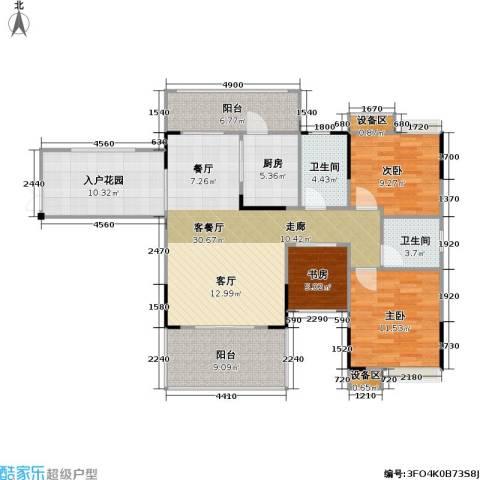 海语江山 海尔・海语江山3室1厅2卫1厨97.69㎡户型图