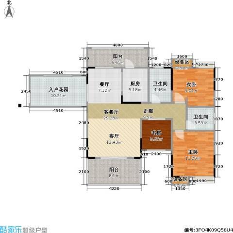 海语江山 海尔・海语江山3室1厅2卫1厨94.42㎡户型图