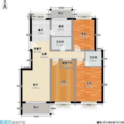 申地公寓二期3室1厅2卫1厨169.00㎡户型图