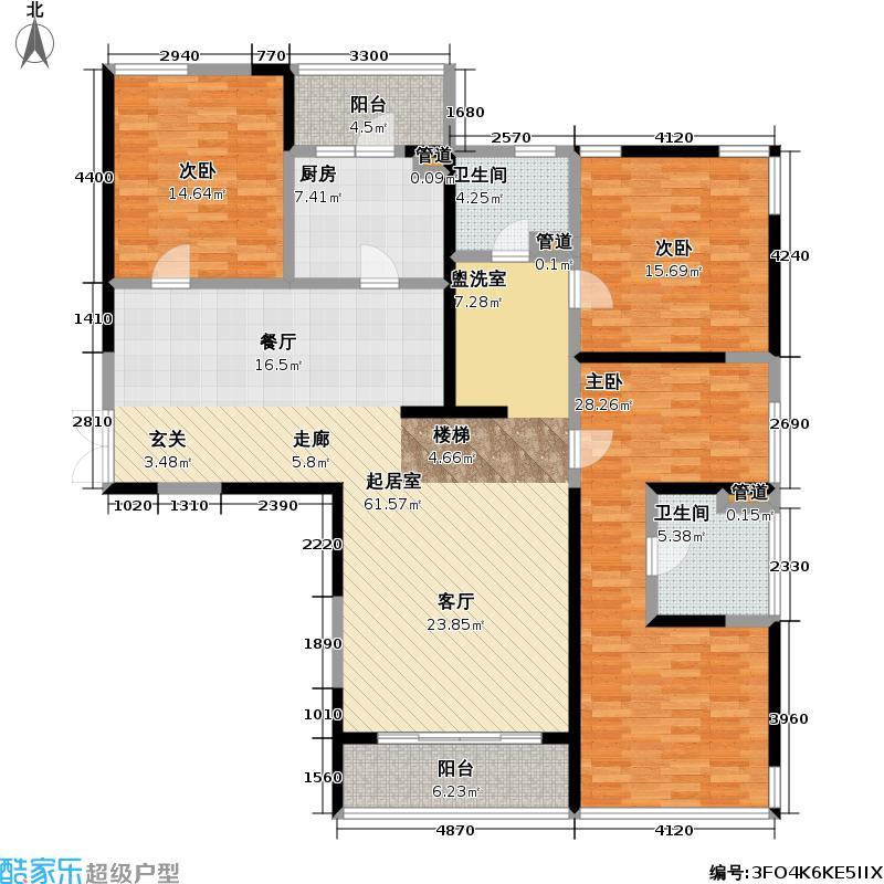 皇都花园170.95㎡CSC1(3、6层) 3室2厅2卫户型