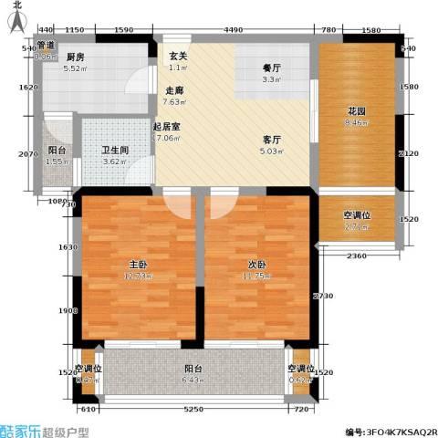 博海尚城2室0厅1卫1厨105.00㎡户型图