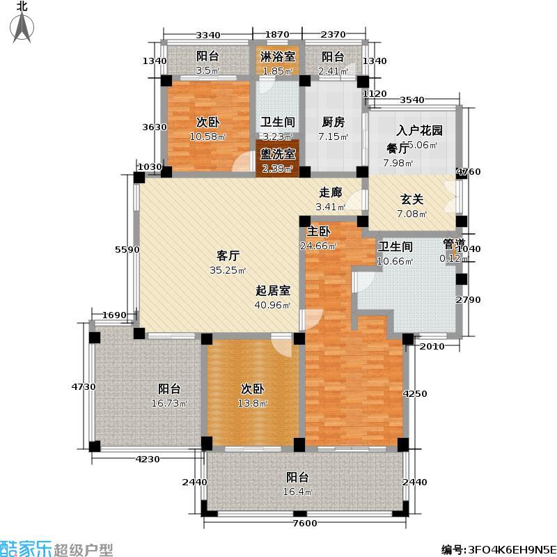 太湖黄金水岸192.00㎡G1户型3室2厅2卫
