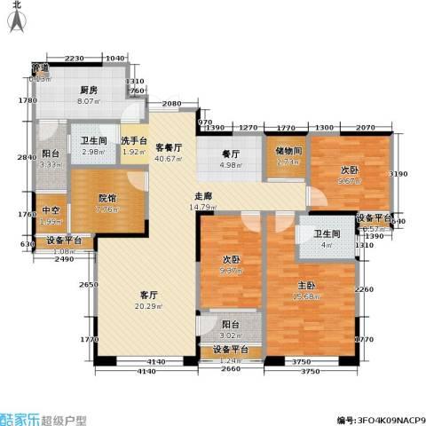 财信・城市国际 城市国际 财信99度商业街3室1厅2卫1厨112.27㎡户型图