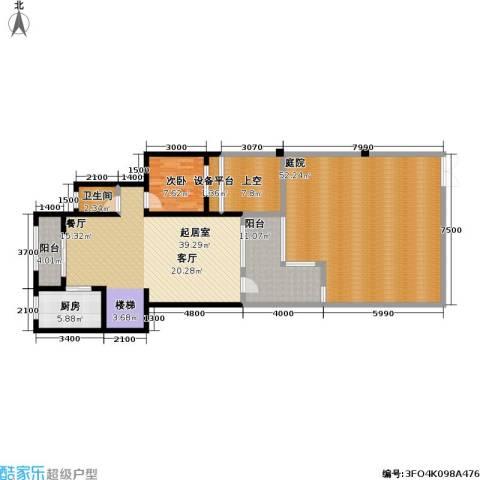 龙湖 悠山香庭 龙湖・悠山时光 悠山时光1室0厅1卫1厨185.00㎡户型图
