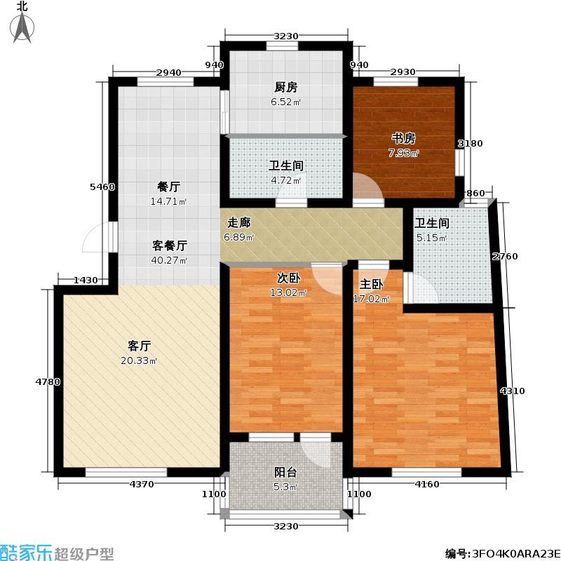 雍翠华苑114.41㎡L2户型