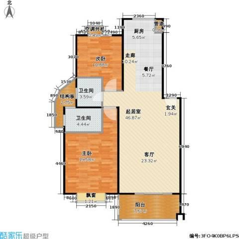 山水名园三期2室0厅2卫0厨130.00㎡户型图