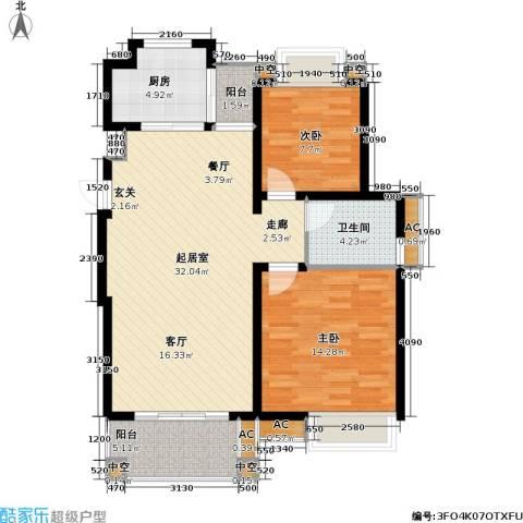 天华绿谷庄园2室0厅1卫1厨83.00㎡户型图