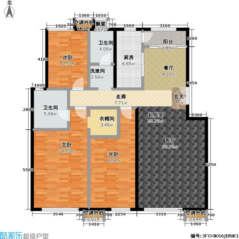玺萌公馆155.89㎡玺萌公馆户型图B-02户型三室二厅二卫(14/32张)户型10室