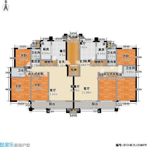 蓝钻庄园6室2厅4卫2厨252.22㎡户型图