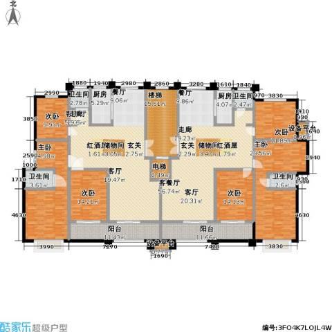 蓝钻庄园6室2厅4卫2厨280.46㎡户型图