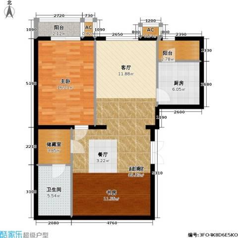 里外里公寓1室0厅1卫1厨107.00㎡户型图