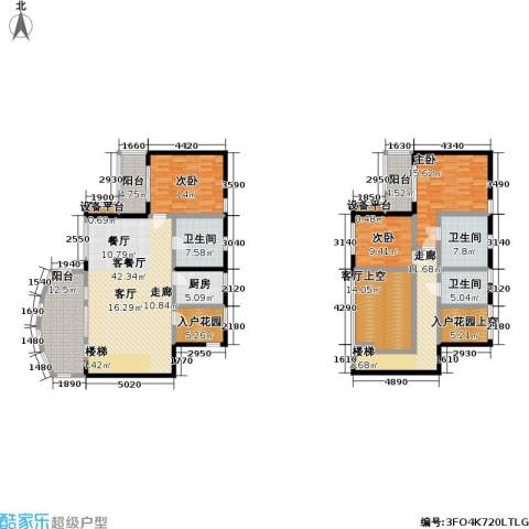 华润小径湾3室1厅3卫1厨241.00㎡户型图