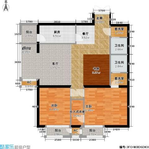 里外里公寓2室0厅2卫1厨128.00㎡户型图
