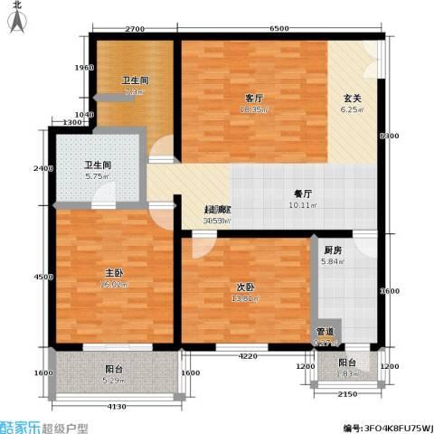 国展家园2室0厅2卫1厨135.00㎡户型图