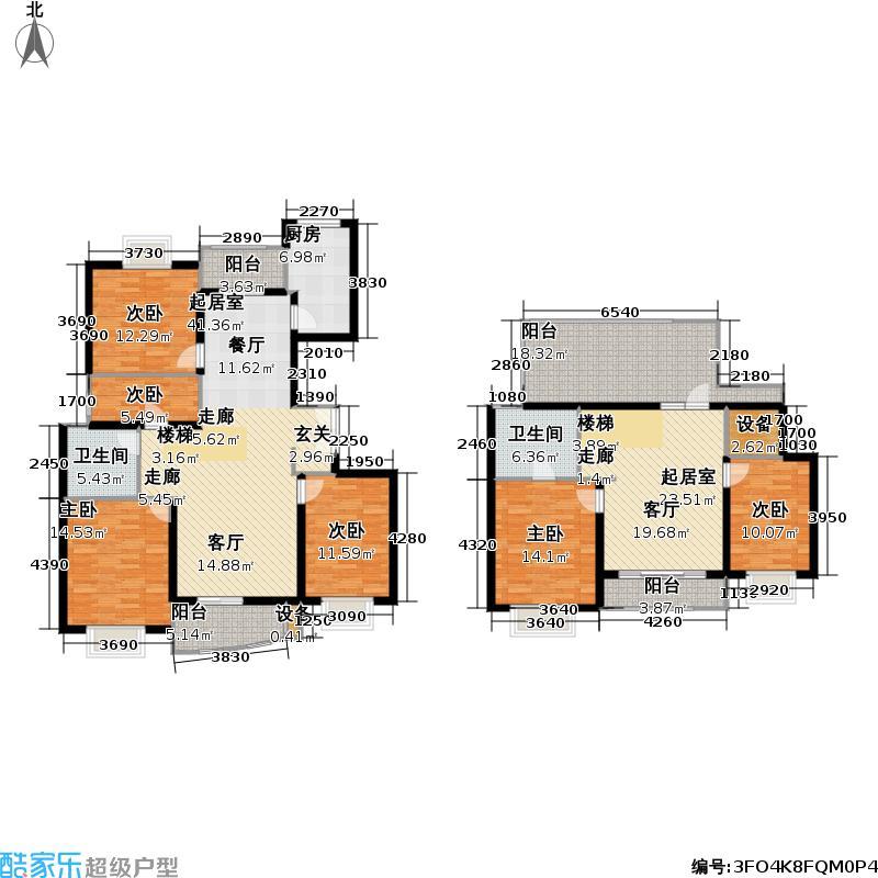 名门世家四期207.74㎡房型: 复式; 面积段: 207.74 -209.21 平方米; 户型