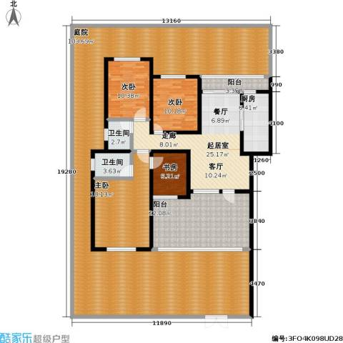 龙湖 悠山香庭 龙湖・悠山时光 悠山时光4室0厅2卫1厨300.00㎡户型图