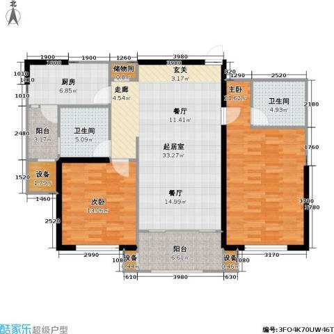 东明家园2室0厅2卫1厨136.00㎡户型图