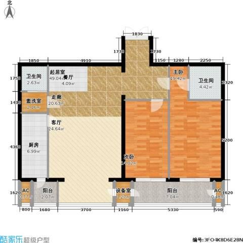 里外里公寓2室0厅2卫1厨149.00㎡户型图