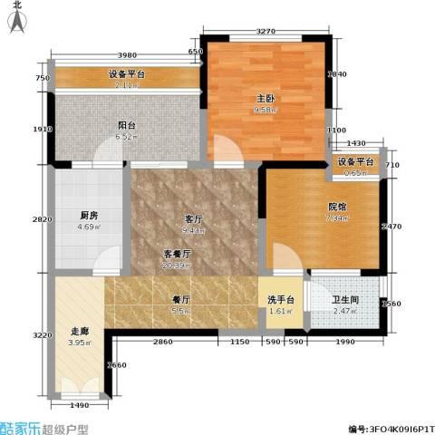 财信・城市国际 城市国际 财信99度商业街1室1厅1卫1厨53.74㎡户型图