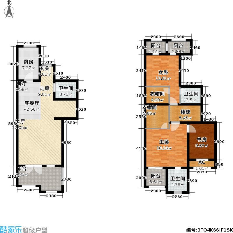 世嘉光织谷世嘉光织谷户型图花墅F3户型2室2厅3卫1厨(4/34张)户型2室2厅3卫