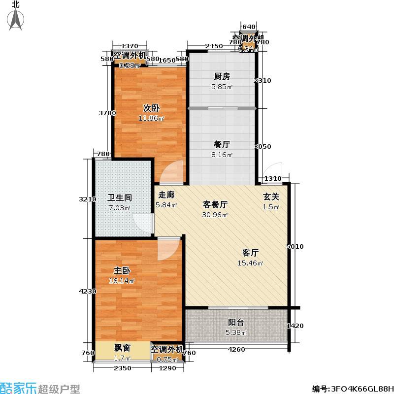 好享家85.00㎡好享家户型图二房二厅一卫-85平方米-124套(5/7张)户型10室