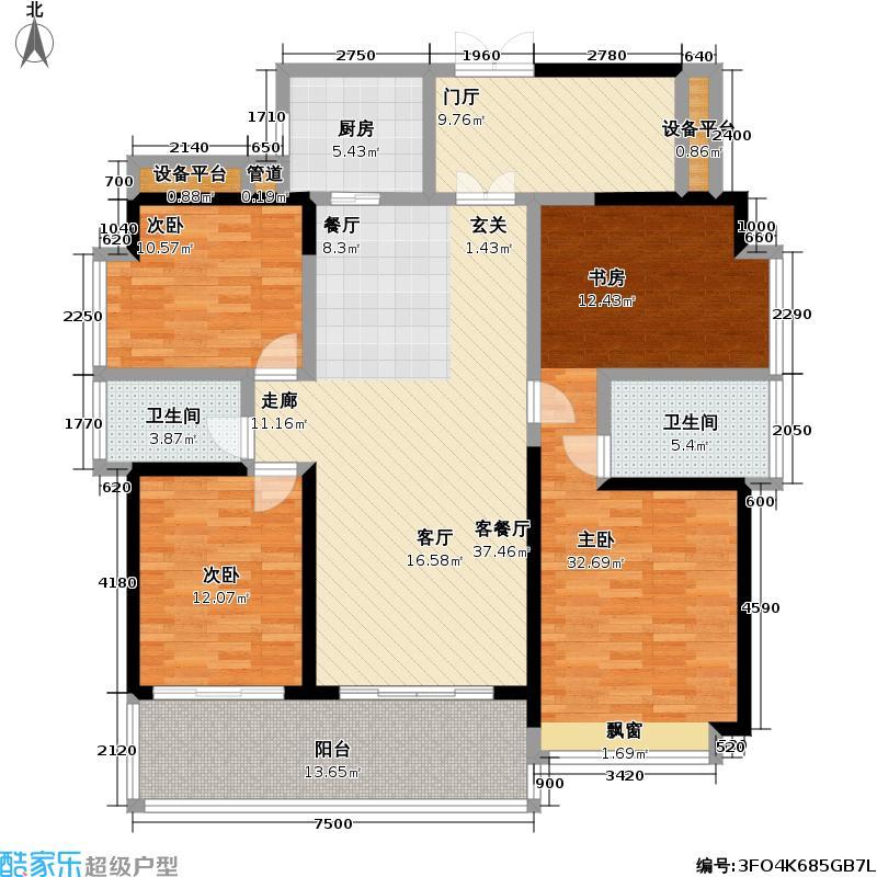 睿智华庭D栋1单元/2单元C1+C2户型3室1厅2卫1厨