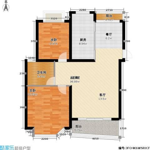 华丽家园一期2室0厅1卫1厨119.00㎡户型图