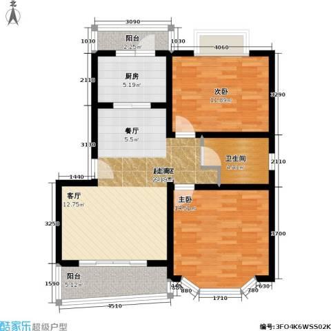 华丽家园一期2室0厅1卫1厨98.00㎡户型图