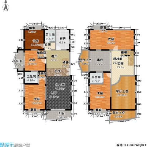 新理想家园一期5室0厅3卫1厨214.04㎡户型图