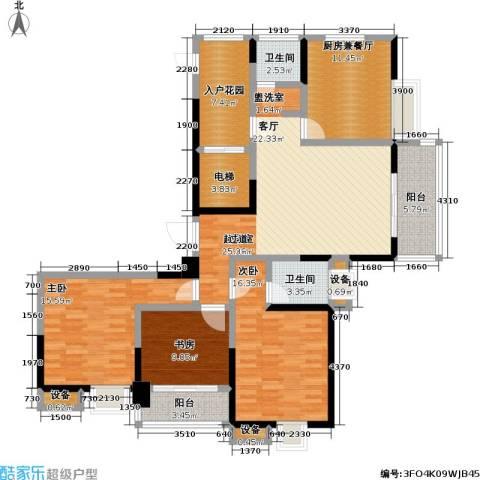 吟枫苑3室0厅2卫0厨129.00㎡户型图