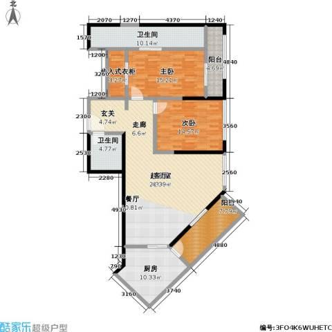 皇都花园2室0厅2卫1厨162.00㎡户型图