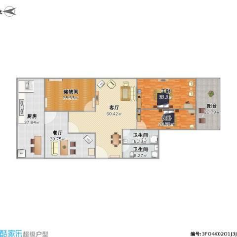 百花小区2室2厅2卫1厨324.00㎡户型图