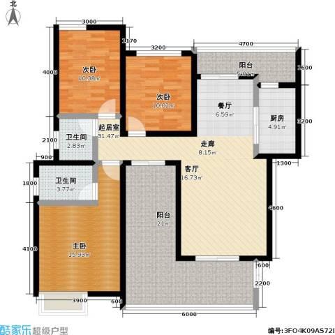 龙湖 悠山香庭 龙湖・悠山时光 悠山时光3室0厅2卫1厨153.00㎡户型图
