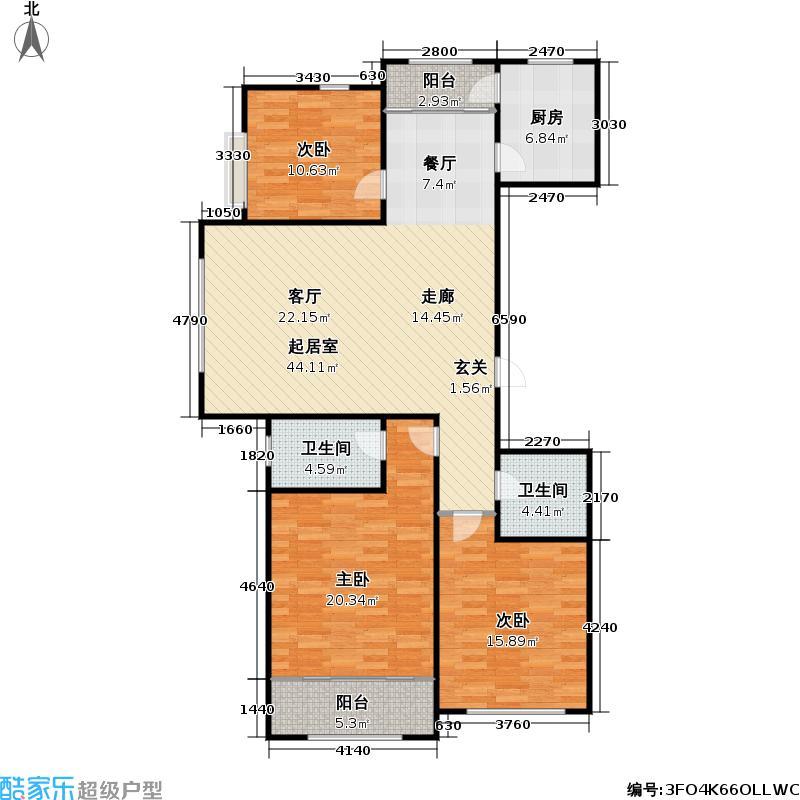 东方公园世家123.00㎡东方公园世家户型图4-A(1/8张)户型10室