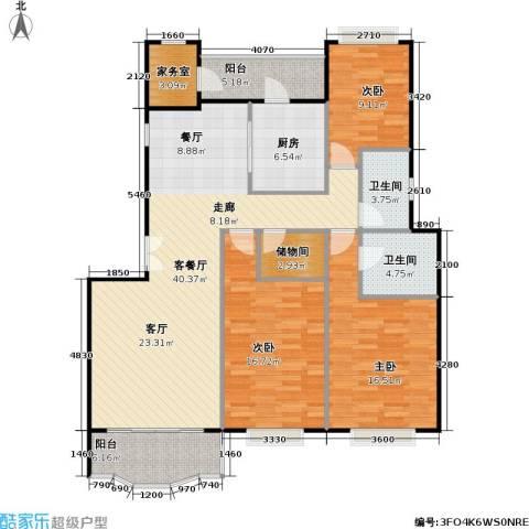 新明星花园二期3室1厅2卫1厨156.00㎡户型图
