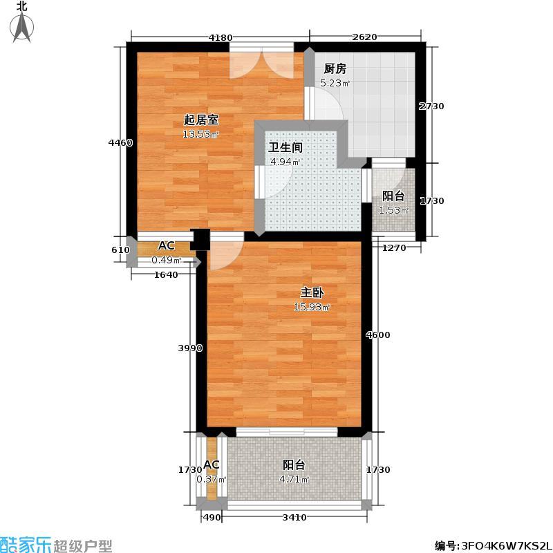 嘉利明珠城二期55.00㎡房型: 一房; 面积段: 55 -55 平方米; 户型