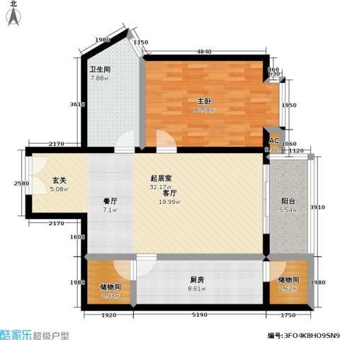 庚坊国际(好来屋)1室0厅1卫1厨87.00㎡户型图